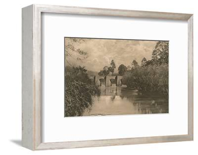 'Bridge at Limplet Stoke on the Lower Avon', 1902-Unknown-Framed Photographic Print