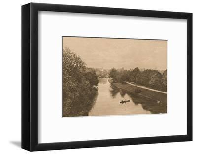 'The Leam at Leamington', 1902-Unknown-Framed Photographic Print