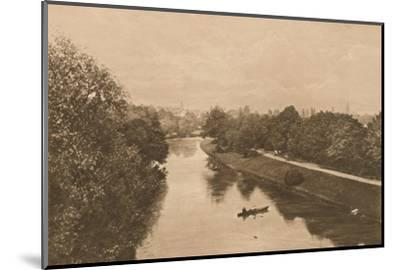 'The Leam at Leamington', 1902-Unknown-Mounted Photographic Print