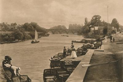 'The Thames at Maidenhead', 1902-Unknown-Framed Photographic Print