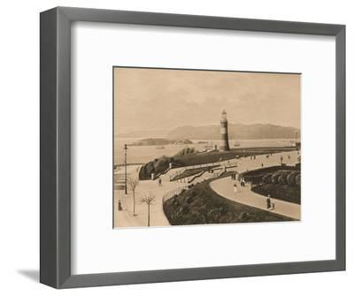 'Plymouth Hoe and Sound and Mouth of the Tamar', 1902-Unknown-Framed Photographic Print