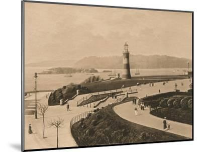 'Plymouth Hoe and Sound and Mouth of the Tamar', 1902-Unknown-Mounted Photographic Print