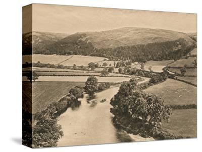 'The Dee Valley, from Glendower's Mound', 1902-Unknown-Stretched Canvas Print