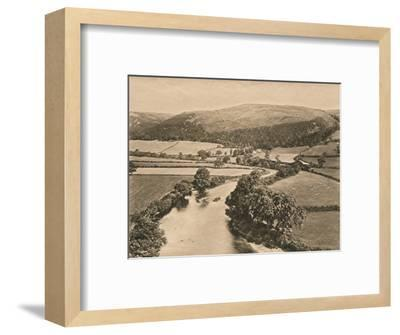 'The Dee Valley, from Glendower's Mound', 1902-Unknown-Framed Photographic Print