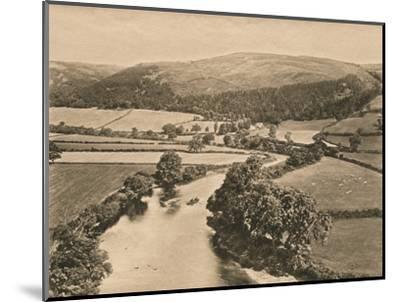 'The Dee Valley, from Glendower's Mound', 1902-Unknown-Mounted Photographic Print