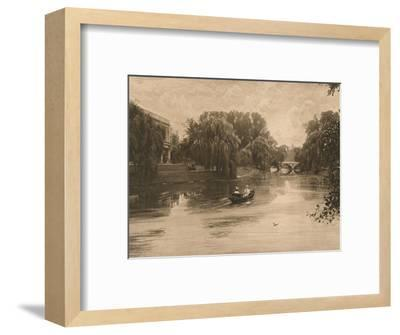 'The Cam at Cambridge with Trinity College', 1902-Unknown-Framed Photographic Print