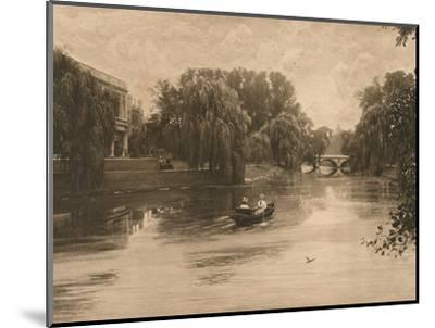 'The Cam at Cambridge with Trinity College', 1902-Unknown-Mounted Photographic Print
