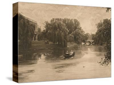 'The Cam at Cambridge with Trinity College', 1902-Unknown-Stretched Canvas Print