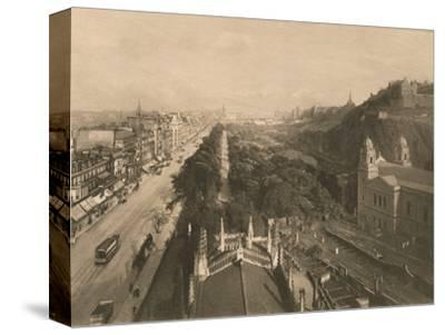 'Edinburgh, Looking Towards Calton Hill, from the West End of Princes Street', 1902-Unknown-Stretched Canvas Print