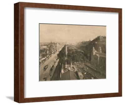 'Edinburgh, Looking Towards Calton Hill, from the West End of Princes Street', 1902-Unknown-Framed Photographic Print