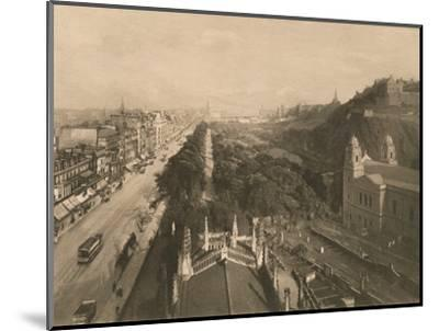 'Edinburgh, Looking Towards Calton Hill, from the West End of Princes Street', 1902-Unknown-Mounted Photographic Print
