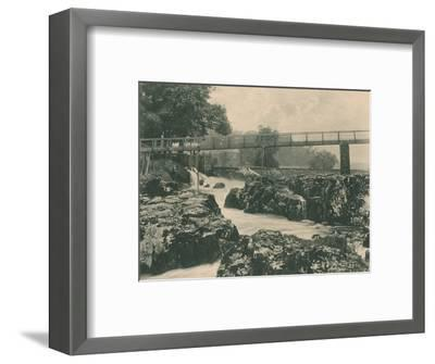 'Falls of the Wharfe', 1902-Unknown-Framed Photographic Print