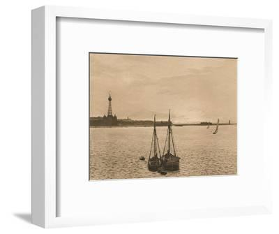 'The Mersey at New Brighton', 1902-Unknown-Framed Photographic Print