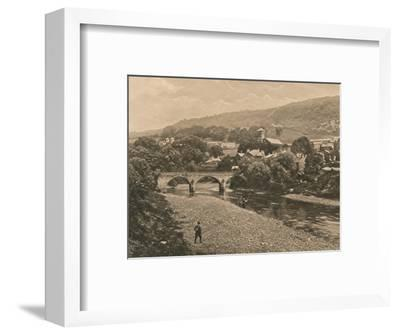 'The Taff at Treforest, near Pontypridd', 1902-Unknown-Framed Photographic Print