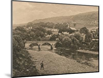 'The Taff at Treforest, near Pontypridd', 1902-Unknown-Mounted Photographic Print