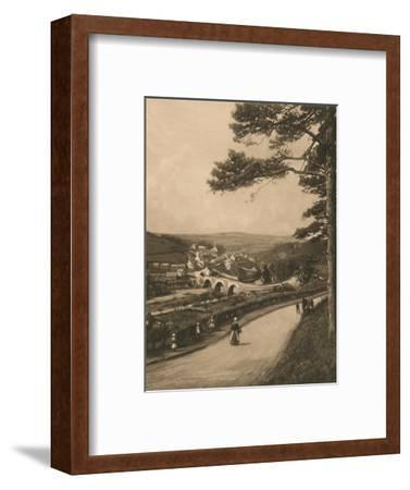 'The Clyde at Kirkfieldbank, from the Braes near Lanark', 1902-Unknown-Framed Photographic Print