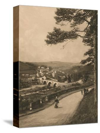 'The Clyde at Kirkfieldbank, from the Braes near Lanark', 1902-Unknown-Stretched Canvas Print