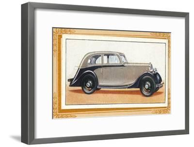 'Lanchester 10 Streamlined Saloon', c1936-Unknown-Framed Giclee Print