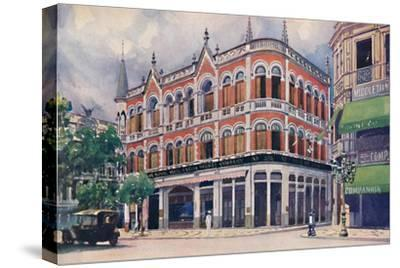 'The Royal Mail Steam Packet Company's Offices, Avenida Rio Branco.', 1914-Unknown-Stretched Canvas Print