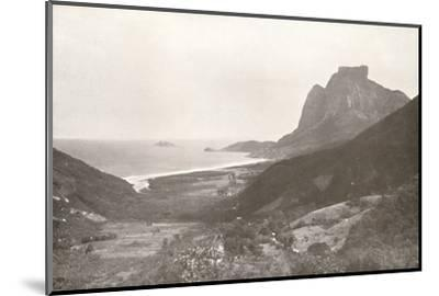 'Gavea Mountain and the South Atlantic', 1914-Unknown-Mounted Photographic Print
