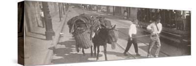 'By tram and mule', 1914-Unknown-Stretched Canvas Print