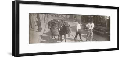 'By tram and mule', 1914-Unknown-Framed Photographic Print