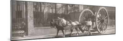 'Carrying heavy goods under instead of above the axle', 1914-Unknown-Mounted Photographic Print