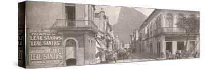 'The Botafogo end of the fashionable Rua Sao Clemente. Corcovado in the distance', 1914-Unknown-Stretched Canvas Print
