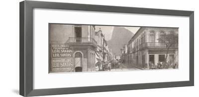 'The Botafogo end of the fashionable Rua Sao Clemente. Corcovado in the distance', 1914-Unknown-Framed Photographic Print