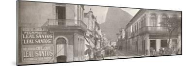 'The Botafogo end of the fashionable Rua Sao Clemente. Corcovado in the distance', 1914-Unknown-Mounted Photographic Print