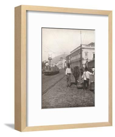 'A Botafogo street scene, Rio', 1914-Unknown-Framed Photographic Print