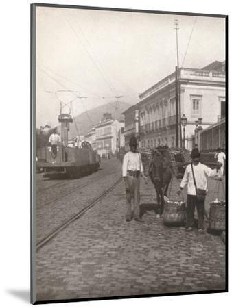 'A Botafogo street scene, Rio', 1914-Unknown-Mounted Photographic Print