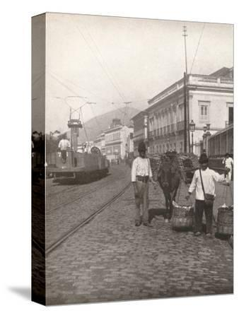 'A Botafogo street scene, Rio', 1914-Unknown-Stretched Canvas Print