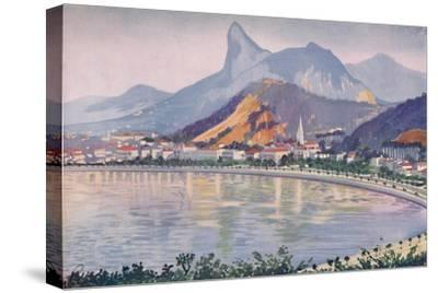 'The Botafogo portion of Rio's Bay-side Avenue, overlooked by Corcovado Mountain', 1914-Unknown-Stretched Canvas Print