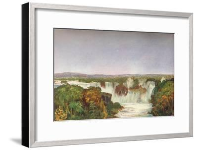 'Partial View of the Falls of Iguassu', 1914-Unknown-Framed Giclee Print