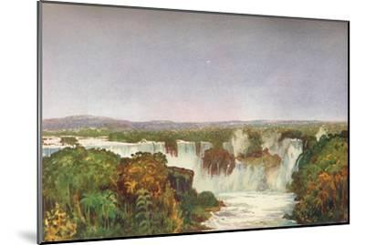 'Partial View of the Falls of Iguassu', 1914-Unknown-Mounted Giclee Print