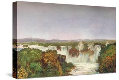 'Partial View of the Falls of Iguassu', 1914-Unknown-Stretched Canvas Print