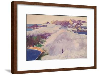 'The Aerial Ropeway Car descending from the Sugar Loaf Mountain', 1914-Unknown-Framed Giclee Print
