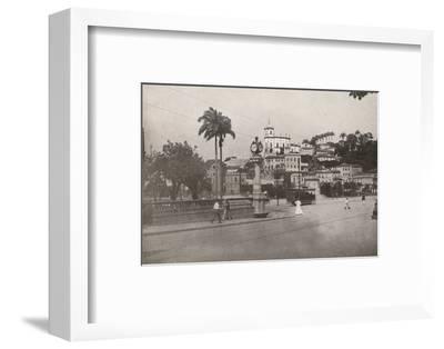 'The Tram passing the Praca da Gloria', 1914-Unknown-Framed Photographic Print