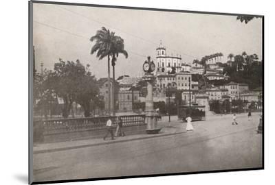'The Tram passing the Praca da Gloria', 1914-Unknown-Mounted Photographic Print
