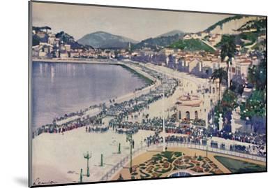 'The Praia da Lapa and Praca da Gloria', 1914-Unknown-Mounted Giclee Print
