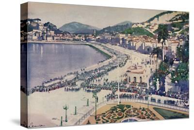 'The Praia da Lapa and Praca da Gloria', 1914-Unknown-Stretched Canvas Print