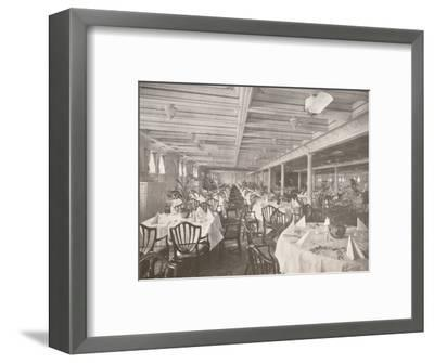 'A Royal Mail Dining Hall', 1914-Unknown-Framed Photographic Print