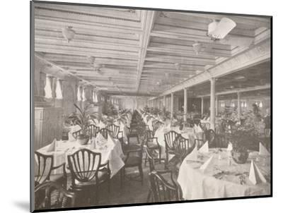 'A Royal Mail Dining Hall', 1914-Unknown-Mounted Photographic Print
