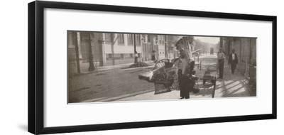 'The wicker-work vendor', 1914-Unknown-Framed Photographic Print