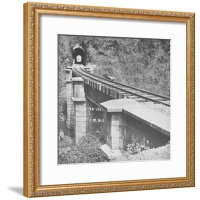 'Central Railway of Brazil: Tunnelling throught the Serra do MAr', 1914-Unknown-Framed Photographic Print