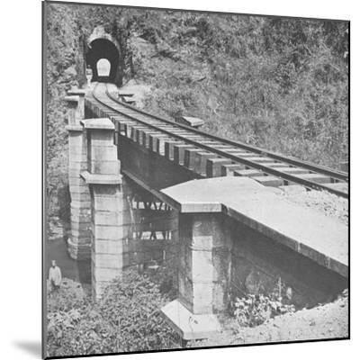'Central Railway of Brazil: Tunnelling throught the Serra do MAr', 1914-Unknown-Mounted Photographic Print