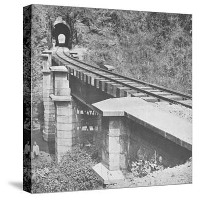 'Central Railway of Brazil: Tunnelling throught the Serra do MAr', 1914-Unknown-Stretched Canvas Print