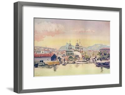 'A Corner of the Rio Customs Wharf', 1914-Unknown-Framed Giclee Print