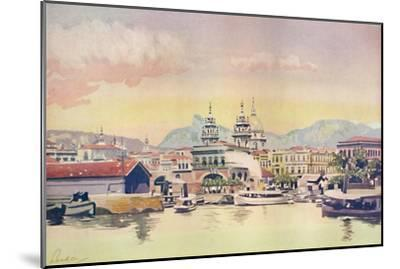 'A Corner of the Rio Customs Wharf', 1914-Unknown-Mounted Giclee Print